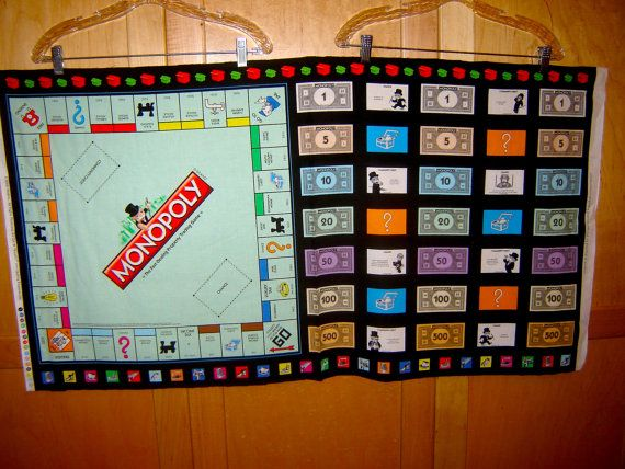 Stof Quilten Schatten Monopolie Speelbord Panel Geld