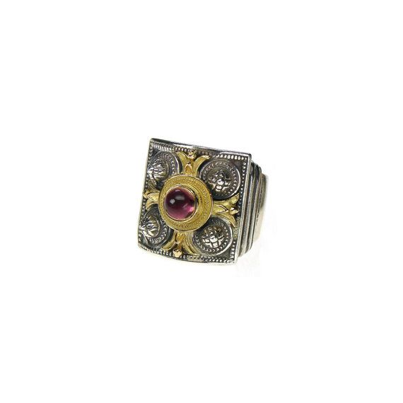 Check out this item in my Etsy shop https://www.etsy.com/listing/127570681/ring-with-pink-tourmaline-with-gold-18k