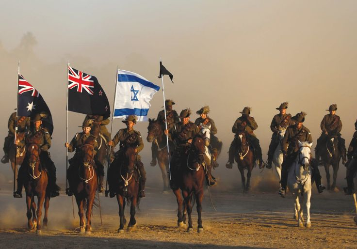 Members of the Australian Light Horse Association take part in a reenactment of the famous World War I cavalry charge known as the 'Battle of Beersheba' yesterday as part of the centenary commemorations in the southern city. Photo By: RONEN ZVULUN / REUTERS