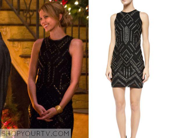 The Originals: Season 3 Episode 9 Freya's Black Studded Dress