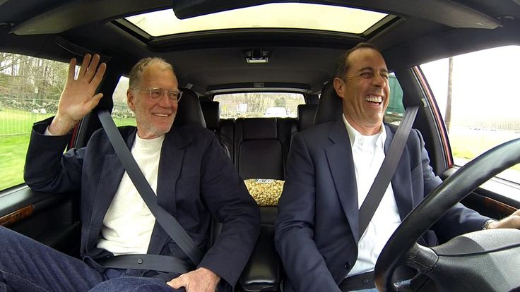 "Dave's souped-up Volvo, compliments of Paul Newman. Comedians In Cars Getting Coffee: ""I Like Kettlecorn."" Jerry Seinfeld, David Letterman"