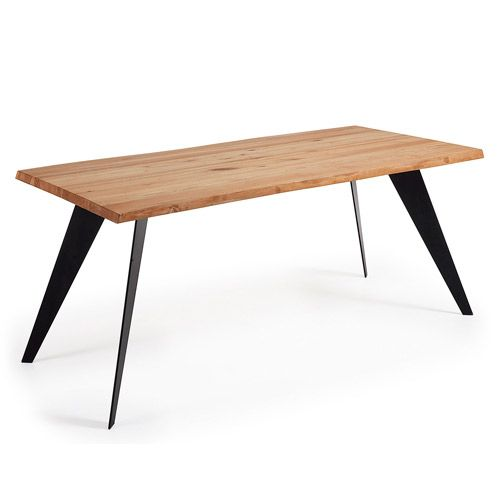 NACK Table 180×100 Fr.Epx Blk Top Oak Wax
