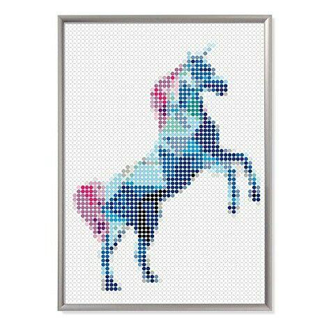 Einhornpower!  Kleb dir dein #unicorn  #doton #art #klebepunkte #sticker #einhorn