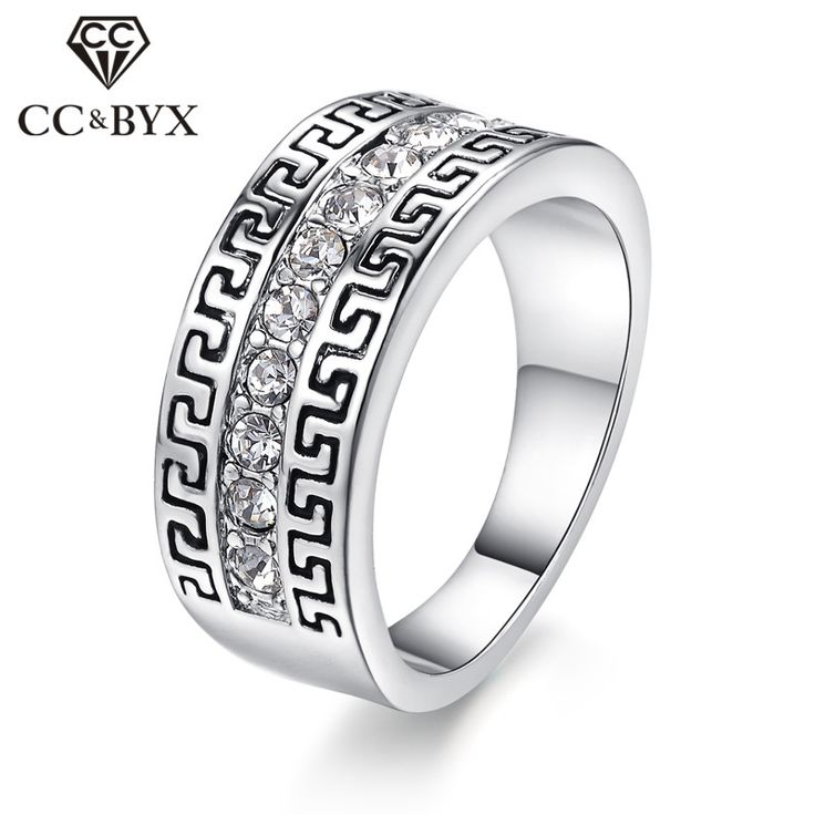 CC Jewelry Fashion Jewelry Rings For Women Vintage White Gold Color Bridal Wedding Ring Engagement Accessories Anillo CC1079
