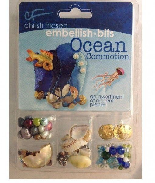 Christi Friesen Ocean Commotion Embellishments kits. What a great little kit.