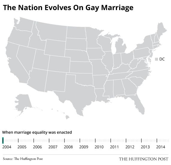Watch Marriage Equality Go From Minority Issue To Majority Right In Just A Few Years (2004 — Oct. 14, 2014)