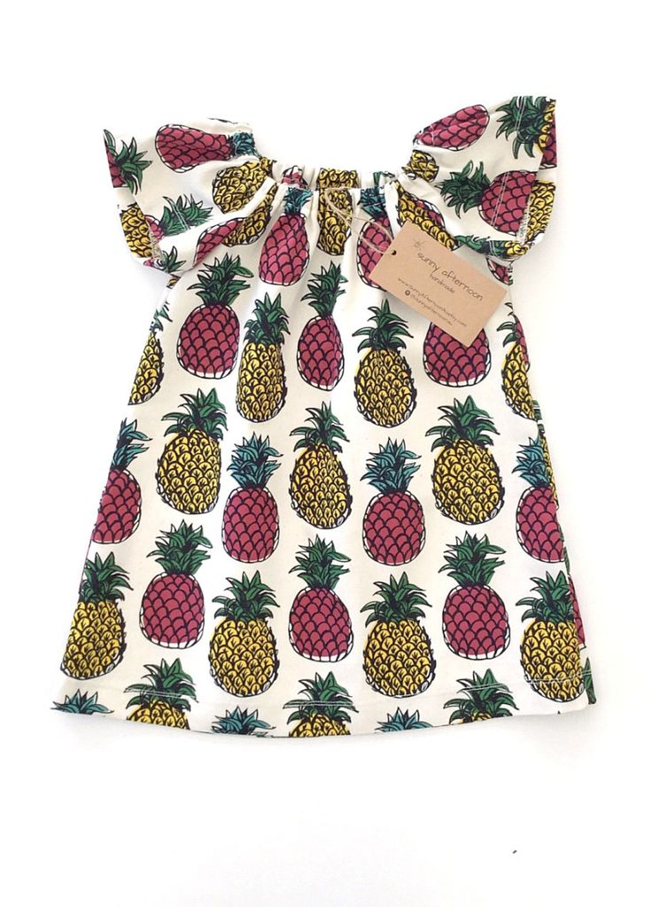 Organic Cotton Pineapple Dress by Sunny Afternoon on Etsy