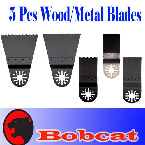 5 Pcs BIM Nail Eater / Wood Saw Oscillating Multi Tool Saw Blade for Fein Multimaster Bosch Multi-x Craftsman Nextec Dremel Multi-max Ridgid Dremel Chicago Proformax Makita Blades