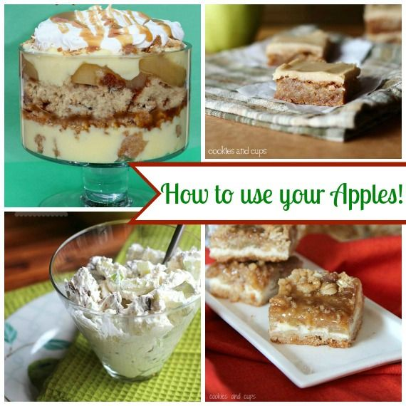 Cookies and Cups Apple Dessert Ideas!