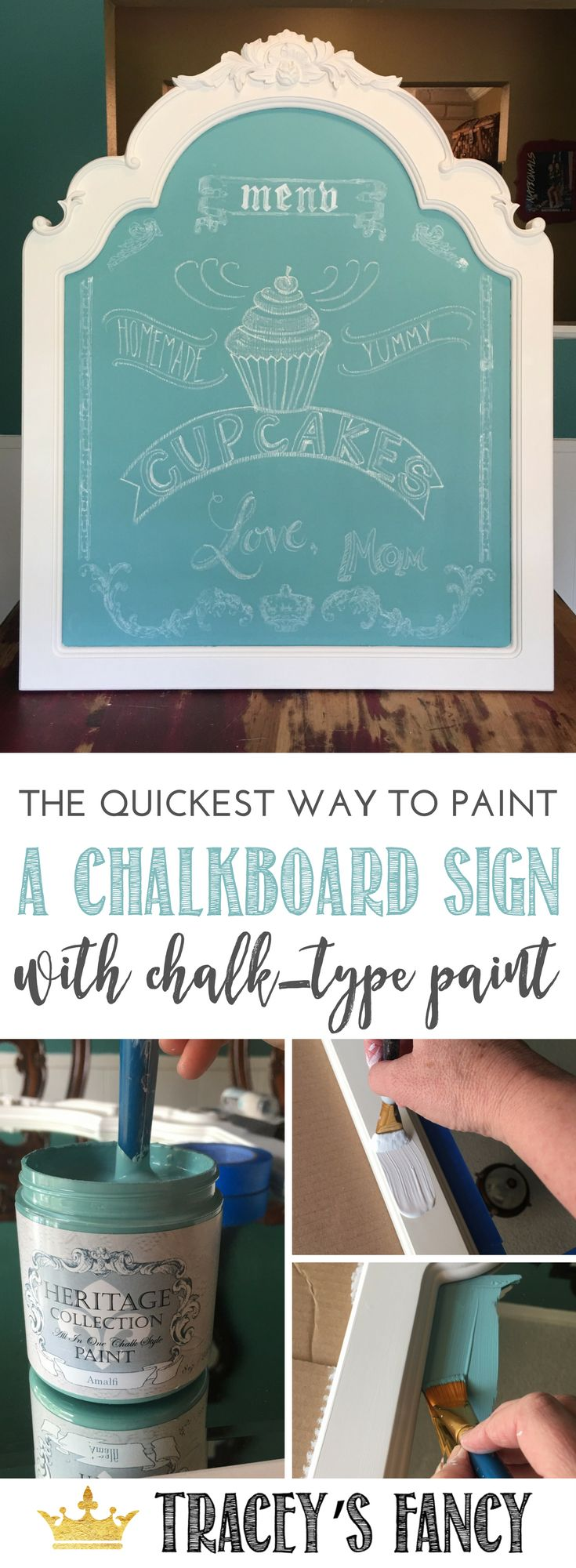 Furniture Painters - I have a great idea for your leftover mirrors from bedroom sets. Just upcycle a Mirror into a chalkboard sign - it's super fast with this new all in one chalk style paint by Heirloom Traditions . Furniture Painting Tips by TraceysFancy | DIY Chalkboard projects | Upcycled Projects | Chalkboard Menu | Gift Ideas | Wall Signs |  | Repurposed Furniture Ideas | Furniture Flips