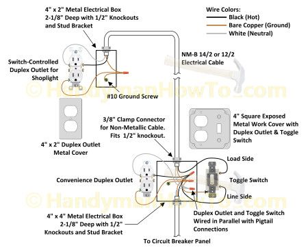 17 best ideas about outlet wiring hiding wires attic light switch controlled electrical outlet wiring diagram