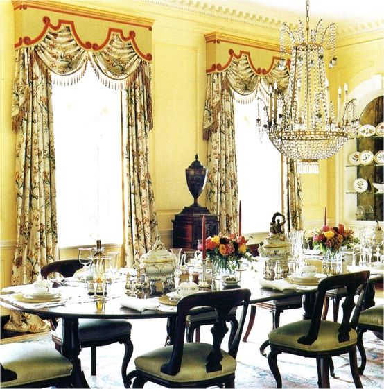 Bunny Williams Classic Yellow Dining Room