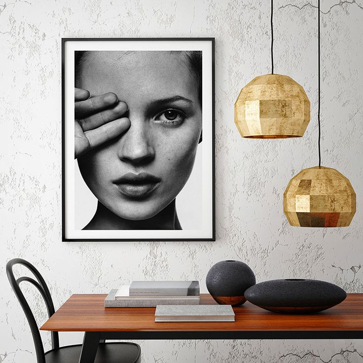 Kate moss black white art print