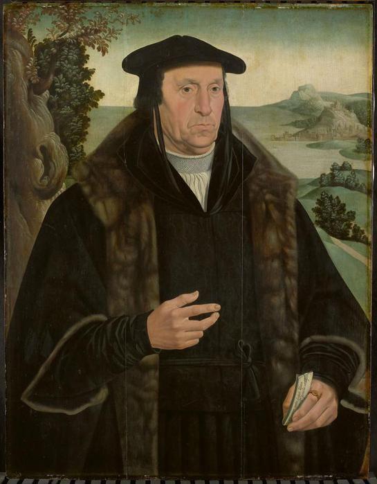 Ян ван Скорел (Jan van Scorel) (1495 - 1562) — Cornelis Aerentsz van der Dussen (1481-1556). Secretaris van Delft sedert (копия с картины Я в.Скорела 1536, Rijksmuseum, Amsterdam)