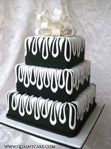 Bolo de casamento Preto e Branco | Black & White wedding cake