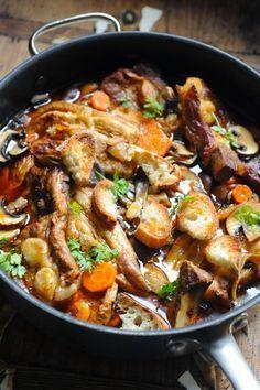 Dorian cuisine.com Mais pourquoi est-ce que je vous raconte ça... : Le petit ragoût du dimanche, tendron de veau au paprika entre grand froid et déjà l'espoir des beaux jours !