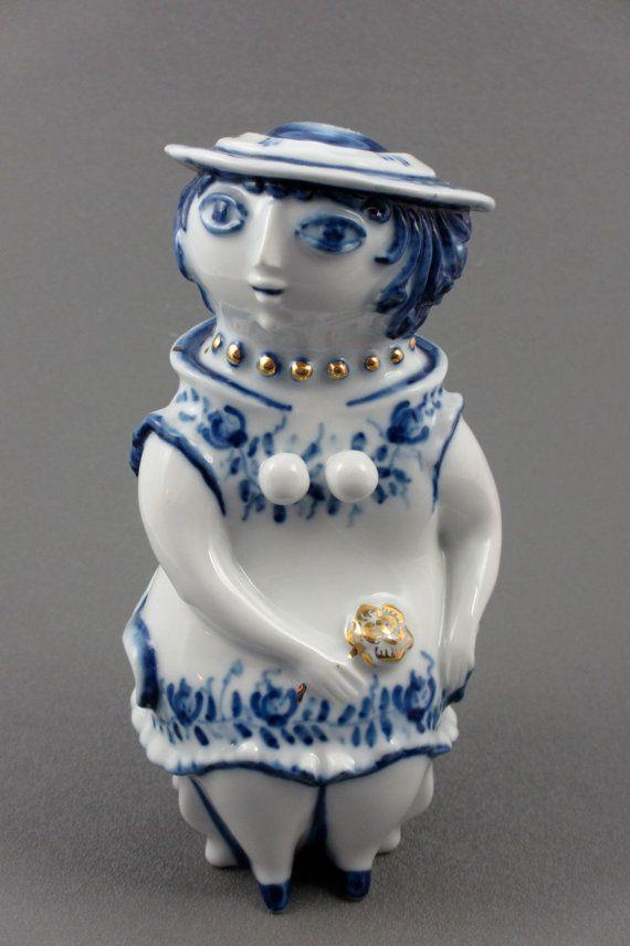 Zsolnay Woman Figurine by Janos Torok. $95.00, via Etsy.