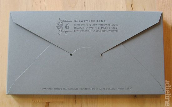 Envelope box packaging.
