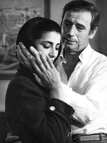 "Irene Pappas and Yves Montand from the 1969 film ""Z""."
