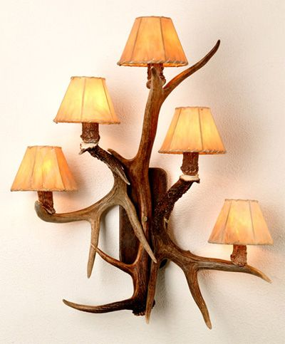 Antler Lamp To Go In Behind The Chair For The Big Desk, In The Middle.