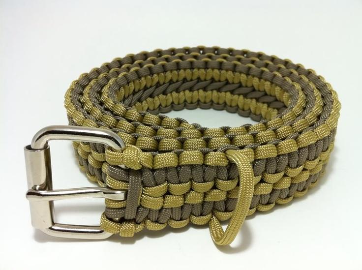 Two tone paracord survival belt paracord ideas pinterest for Paracord belt instructions