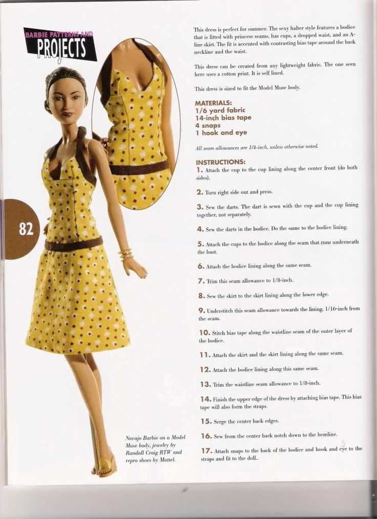 PAR AMOUR DES POUPEES :: Barbie : robe à bretelles