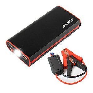 Démarrage de Voiture, Car Jumper ARCHEER, Booster de Batterie 300A Pic 9000mAh avec Smart Pinces et Lampe Torche LED, Chargeur Universel…
