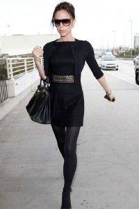 black dress victoria beckham