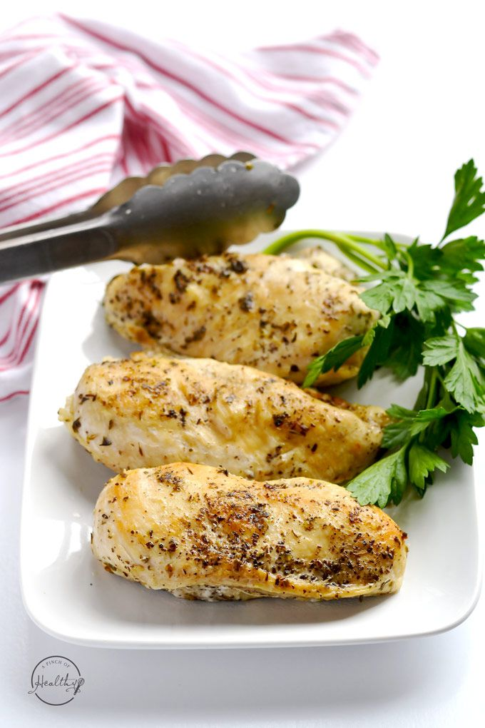This is my tried and true method for making Instant Pot chicken breasts that are tender, juicy and delicious! | APinchOfHealthy.com