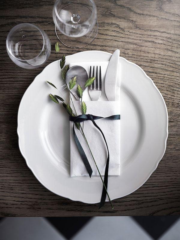 upplaga assiette blanc ikea plate