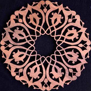 Naht Sanatı: Çini Motifi (Ceviz Ağacı)