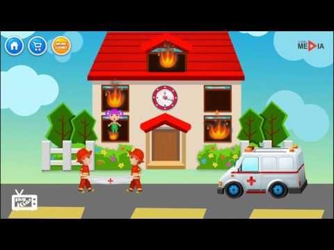 Sam pompiere cartoni, Camion dei pompieri, Ambulanza cartoni