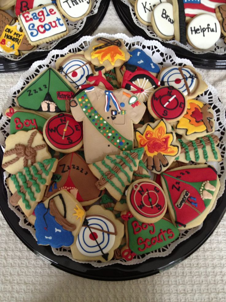 Boys Scout Camping Cookies These are Cool ! But who has the time to make these.
