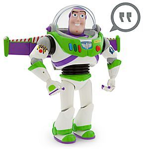 Buzz Lightyear Talking Figure - 12'' | Disney Store Does your Space Ranger feel like a trip to the stars? So does Buzz! This <i>Toy Story</i> action figure does plenty of talking, which is useful on a long space voyage. And Buzz can protect the crew with his karate chop action!
