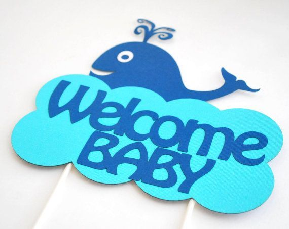 Whale Baby Shower Decorations | Party Centerpiece Welcome Baby Whale Baby  Shower By .
