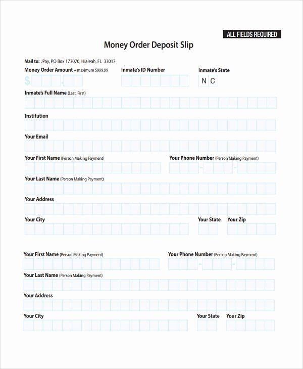 Deposit Slip Template Word Awesome Sample Deposit Slip Template 8