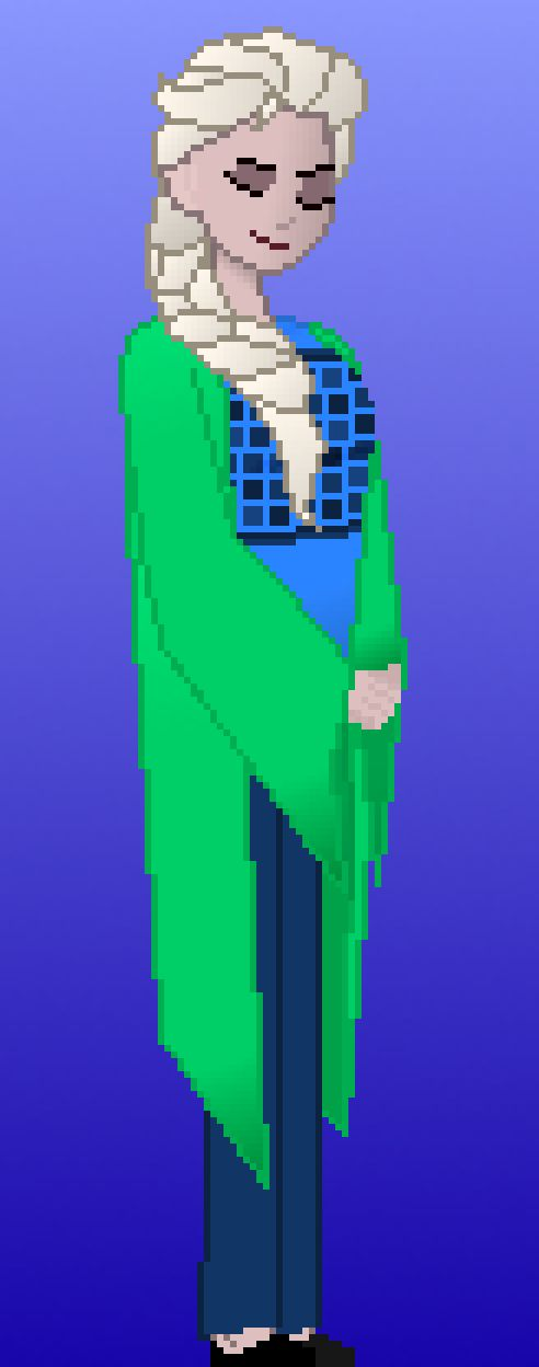 Elsa Modern Reimagining You can see the creation of this pixel art here: https://www.youtube.com/watch?v=aric_W8kzQQ