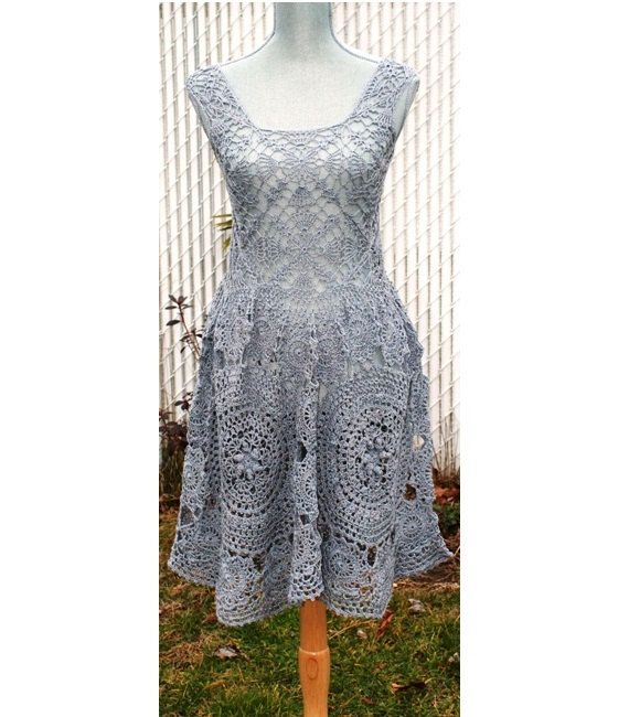 Anthropologie Inspired hand-crafted crochet mini Dress Made To Order in any size and color