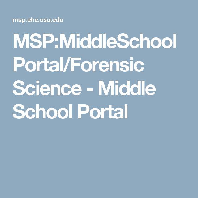 MSP:MiddleSchoolPortal/Forensic Science - Middle School Portal