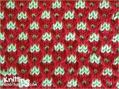 multi-colour-patterns | Knitting Stitch Patterns slip stitch crosses