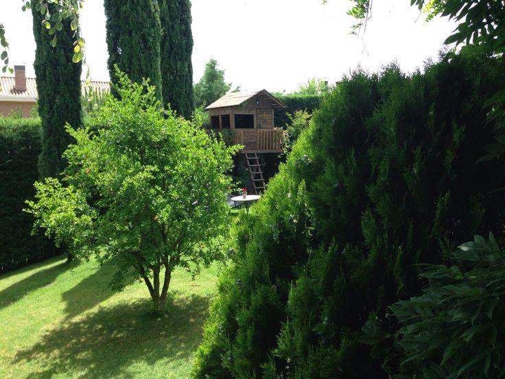 Casita en un árbol hecha por Jardines y Rincones Paisajismo