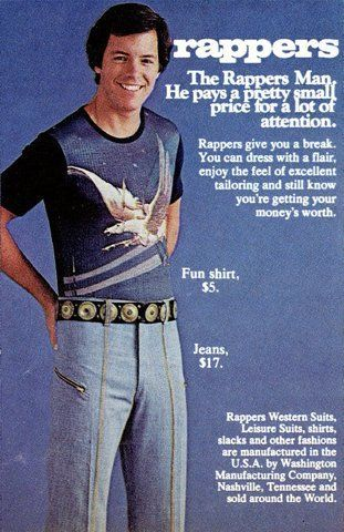 rappers fun shirt... - (fashion)(jeans)(magazine ad)