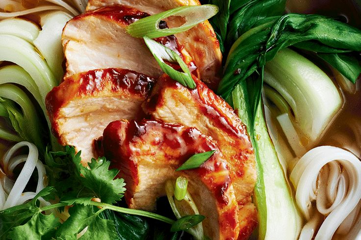 Hoisin-Glazed Chicken with Five-Spice Broth