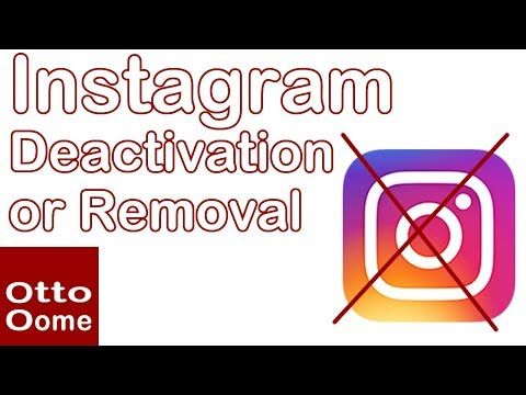 How to deactivate or remove your Instagram account? - YouTube