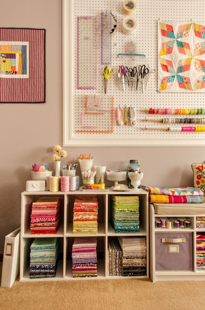 178 best Craft room images on Pinterest | Craft rooms, Sewing ... : quilting room organization ideas - Adamdwight.com