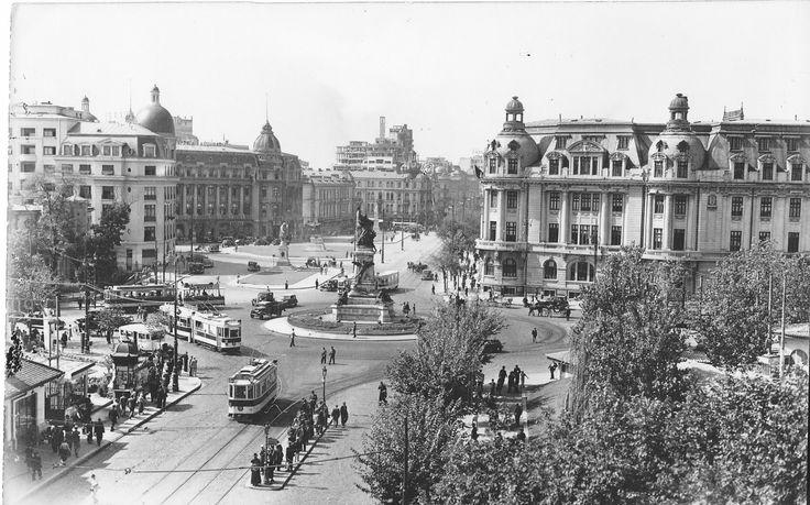 Piața I.C. Brătianu (azi Piața Universității), finalul anilor 30.