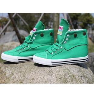 Sapatas das mulheres da moda lona está em alta sapatos casuais laço verde quatro estações senhora de skate hip-hop sapatos