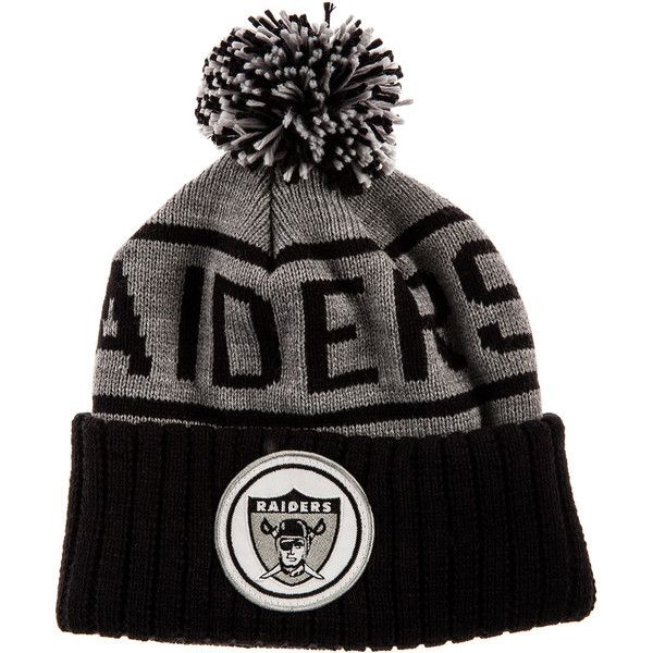c6ed1e83b ... jersey patch for the Mitchell Ness The Oakland Raiders High 5 Beanie in  Grey Black (20) ...