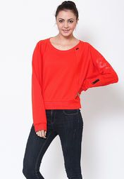 this red coloured sweatshirt from Adidas. Providing utmost comfort and high breathability because of its polycotton spandex fabric, this regular-fit sweatshirt can be teamed up with denims or track pants as per your needs.