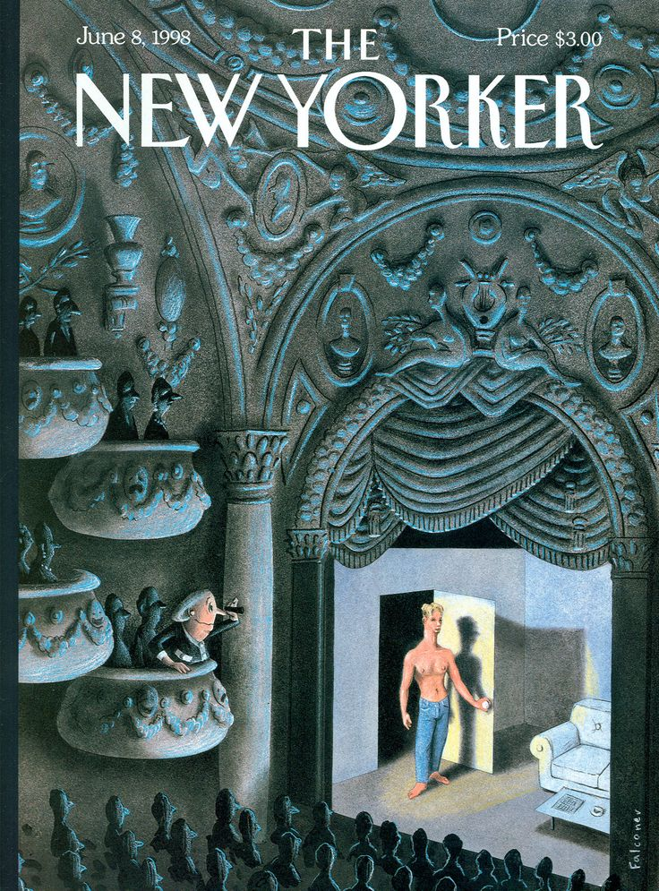"The New Yorker - Monday, June 8, 1998 - Issue # 3801 - Vol. 74 - N° 15 - Cover ""The Thrill of the Theatre"" by Ian Falconer"